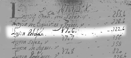 Índice del Libro de Difuntos de la Parroquia de San Andrés