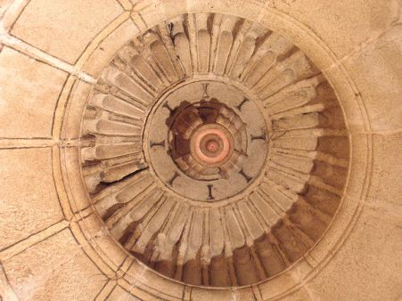 Clave de la cúpula de la sacristía de Hinojosa