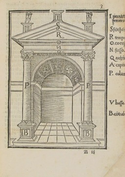 Lámina del tratado de Diego de Sagredo
