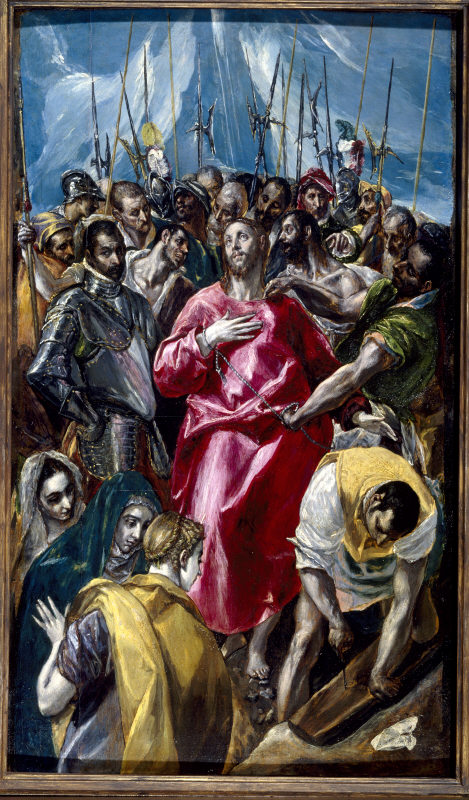 EL ESPOLIO or THE DISROBING OF CHRIST by El Greco at Upton House, Warwickshire