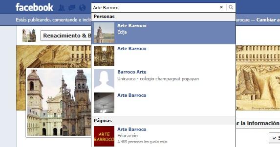 Facebook RenacimientoBarroco