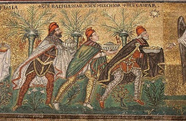 San Apolinar nuovo, Rávena, ofrenda de los reyes magos 526 3