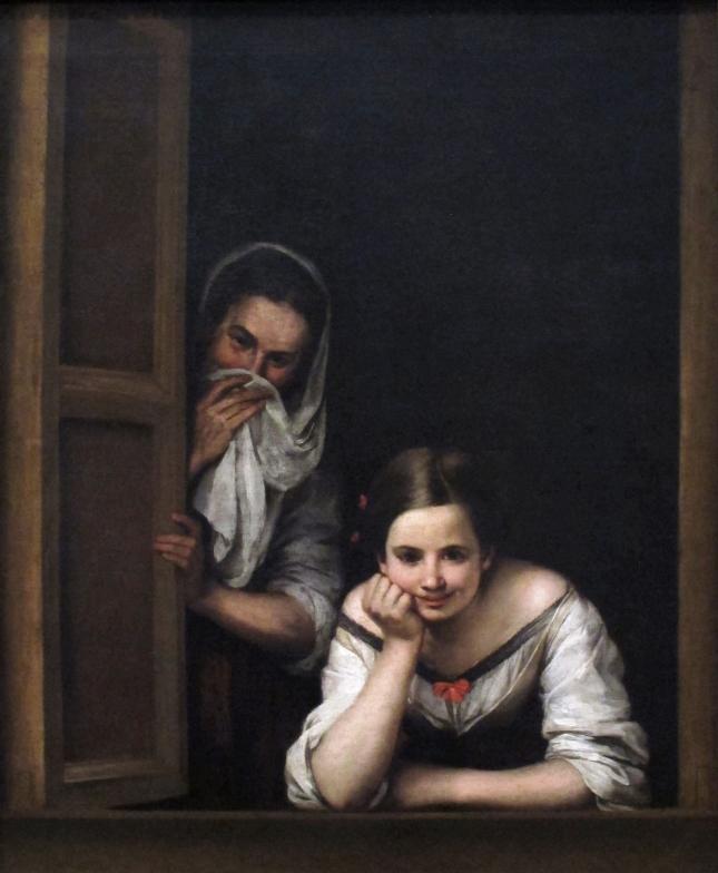 1665-1675. Dos mujeres a la ventana. MURILLO