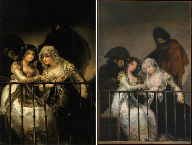 1808-12. Mujeres en el Balcón. GOYA. Montaje