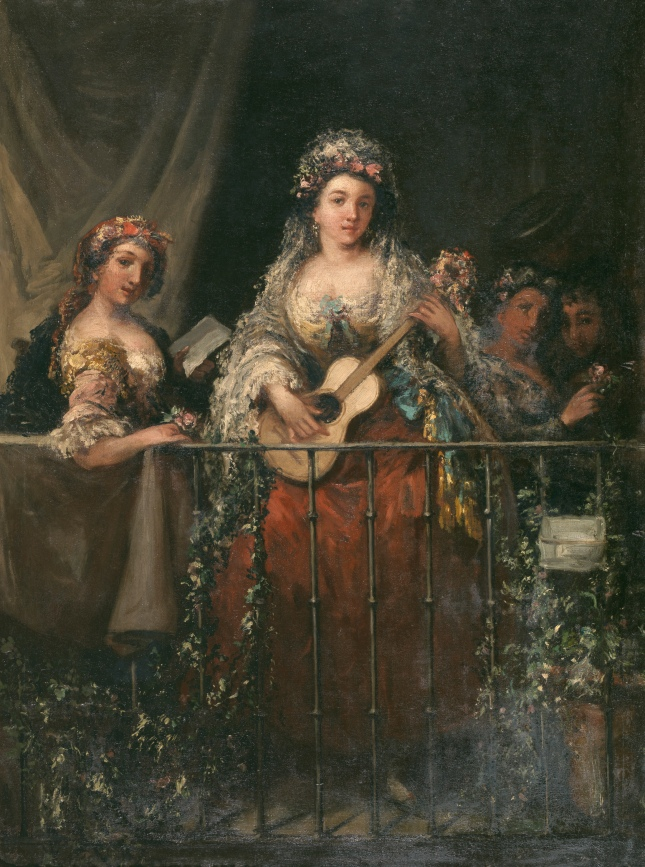 1862. Majas en el Balcón. E.LUCAS VELÁZQUEZ