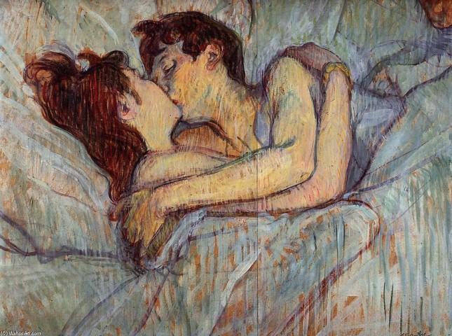 HENRI-DE-TOULOUSE-LAUTREC-IN-BED.-THE-KISS