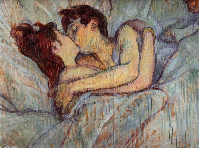 HENRI-DE-TOULOUSE-LAUTREC-IN-BED.-THE-KISS