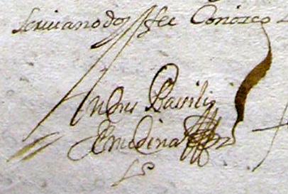 Firma Andrés Basilio de Medina