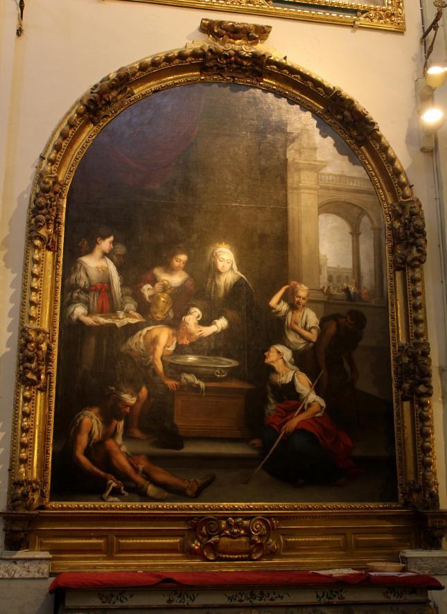 Murillo. Santa Isabel de Hungría curando a los tuñidos.