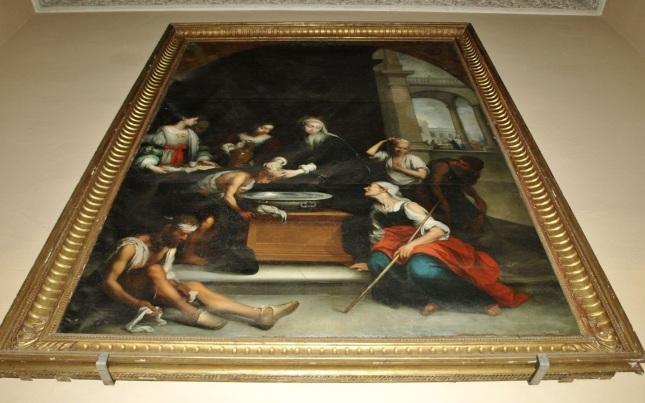 Santa Isabel de Hungría curando a los tiñosos (2)